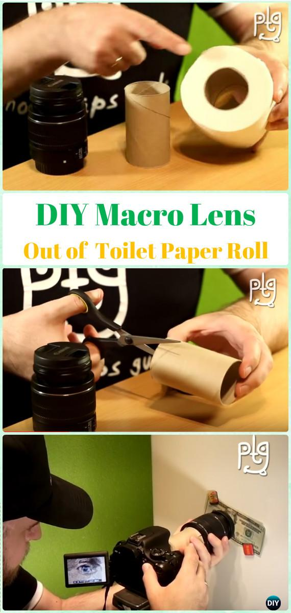DIY Macro Lens Out of Toilet Paper Roll Tutorial - DIY Photography Tips Camera Tricks