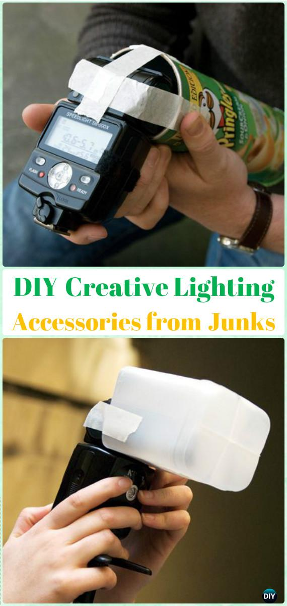 DIYCreative Lighting Accessories fromJunks Tutorial - DIY Photography Tips Camera Tricks