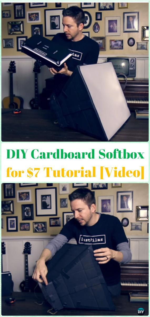 DIY CardboardSoftbox for $7Tutorial[Video] - DIY Photography Tips Camera Tricks