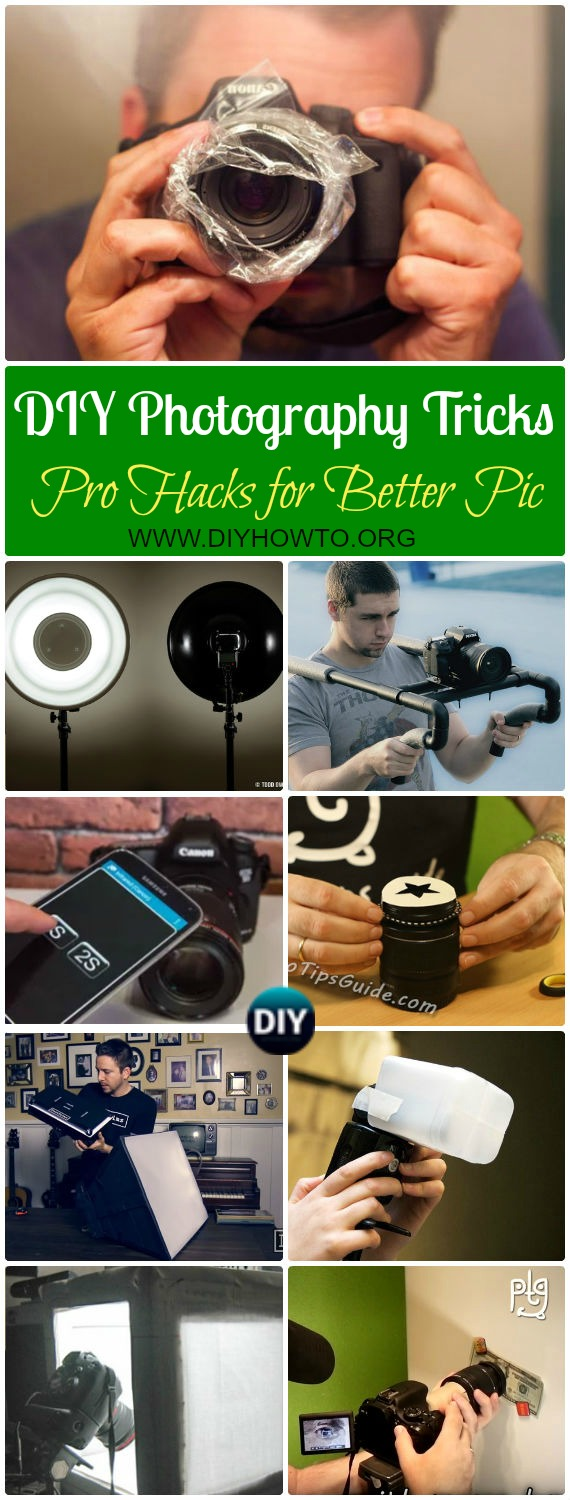 Collection of DIY Photography Tips Camera Tricks & Hacks for better pictures, pro tips for photographers and bloggers