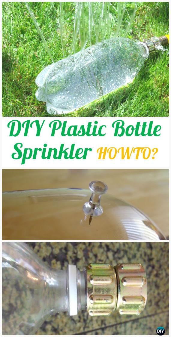 DIY Plastic Bottle Sprinkler Instructions - DIY Plastic Bottle Garden Projects & Ideas