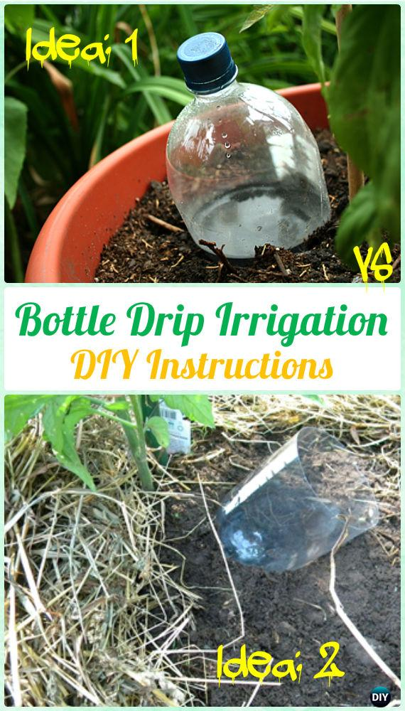 DIY Plastic Bottle Drip Irrigation Instructions - DIY Plastic Bottle Garden Projects & Ideas
