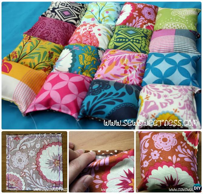 DIY Bubble Quilt Chair Cover Sew Pattern Puff Blanket Biscuit Quilt Instruction - video