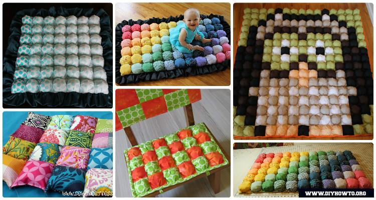 Diy Puff Bubble Blanket Biscuit Quilt Sew Pattern