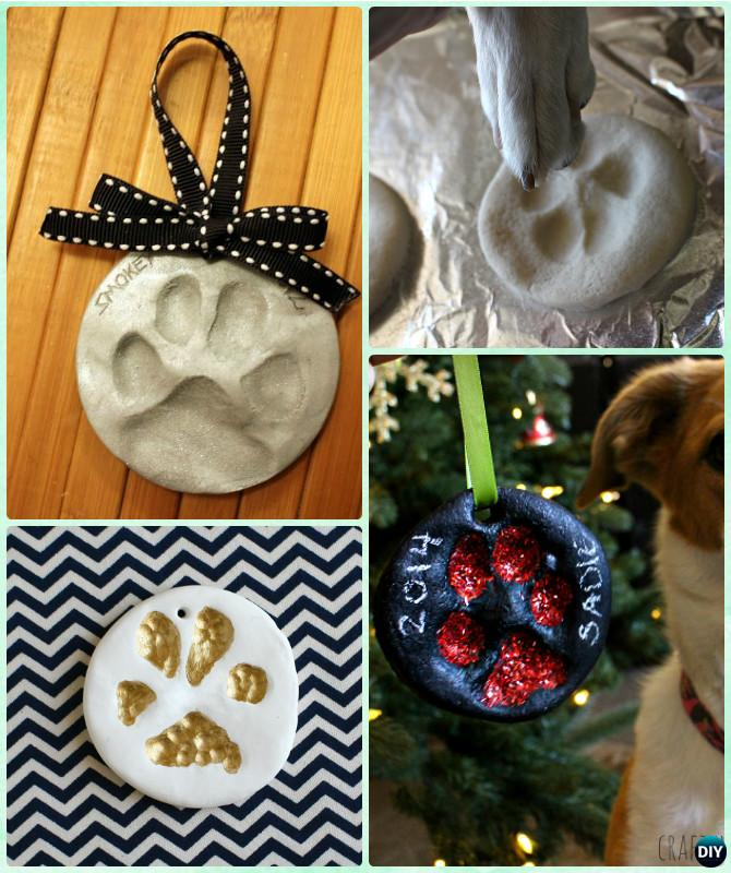 DIY Puppy Paw Print Salt Dough Christmas Ornament Instruction --Paw Print Craft Ideas Projects