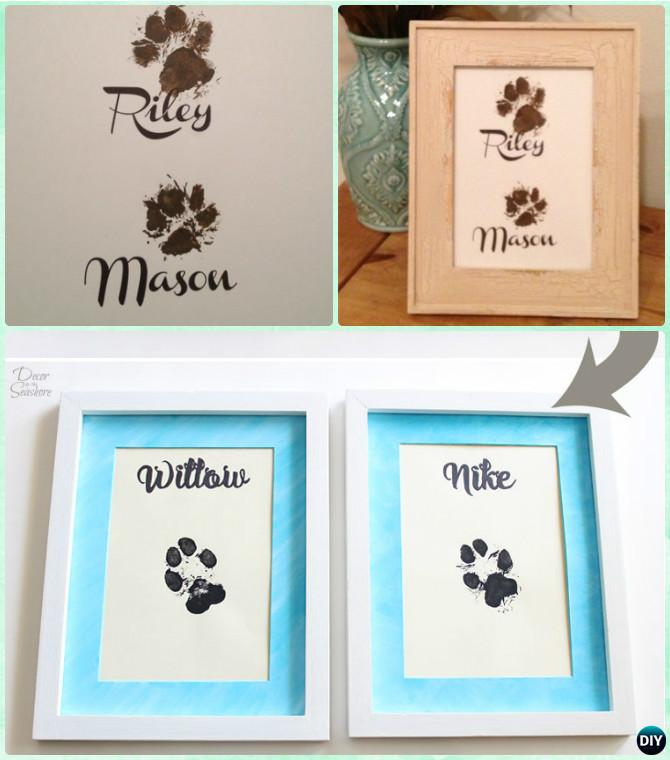 DIY Puppy Paw Print Wall Art Instruction-Paw Print Craft Ideas Projects
