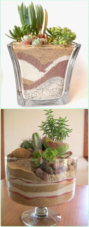 DIY Dessert Sand Terrarium - DIY Sand Art Terririum Ideas Projects & Tutorials