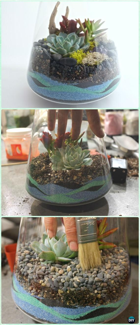 DIY Tabletop Sand Terrarium Instruction - DIY Sand Art Terririum Ideas Projects & Tutorials