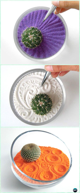 DIY Sand Art Zen Garden Instruction - DIY Sand Art Terririum Ideas Projects & Tutorials