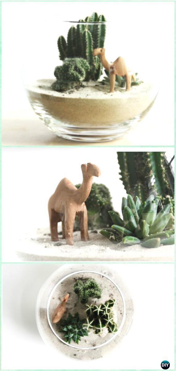 DIY Miniature Dessert Terrarium Instruction - DIY Sand Art Terririum Ideas Projects & Tutorials