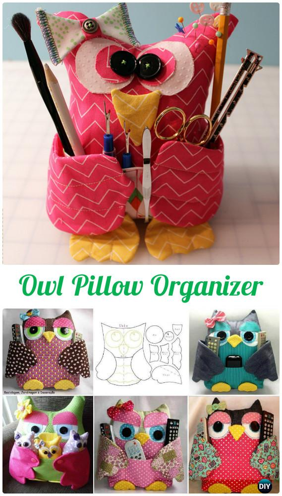 DIY Remoter Cuddy Owl Pillow Free Template Instructions-DIY Sew Owl Craft Projects