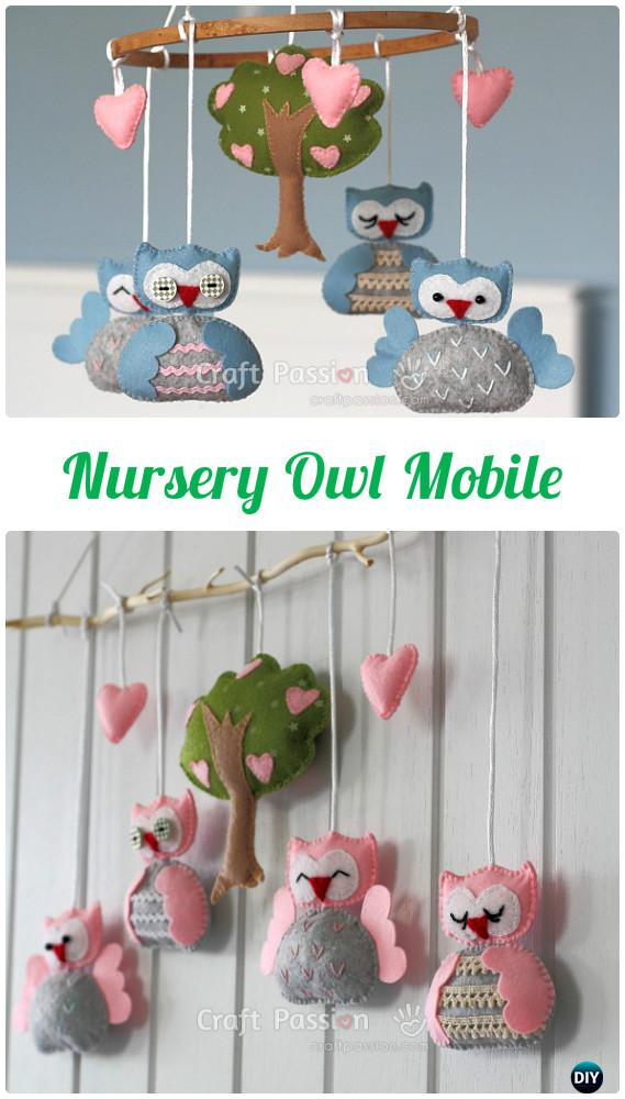 DIY Nursery Owl Mobile Instructions-DIY Sew Owl Craft Projects