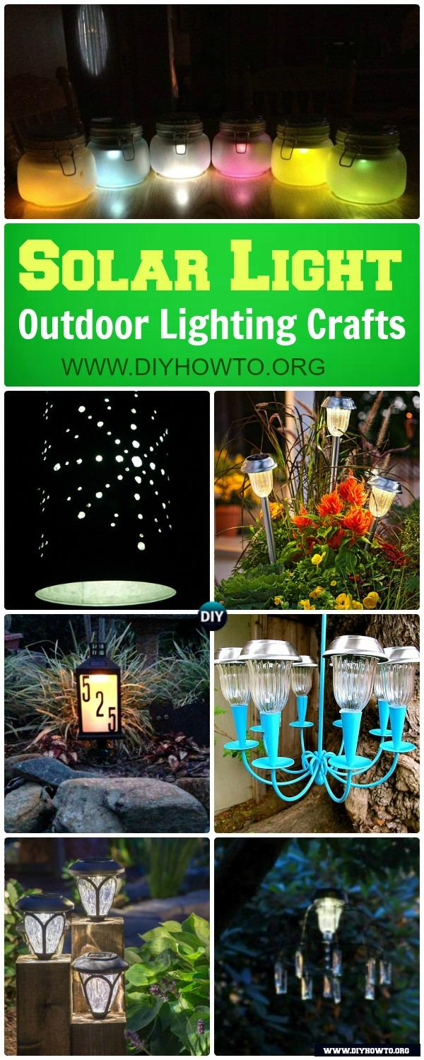 DIY Solar Light Craft Ideas For Home and Garden Lighting: new ways to use the garden solar lights to make more creative solar lighting fixture possibilities