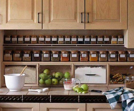 Extra Storage Under-Cabinet - DIY Space Saving Hacks to Organize Your Kitchen