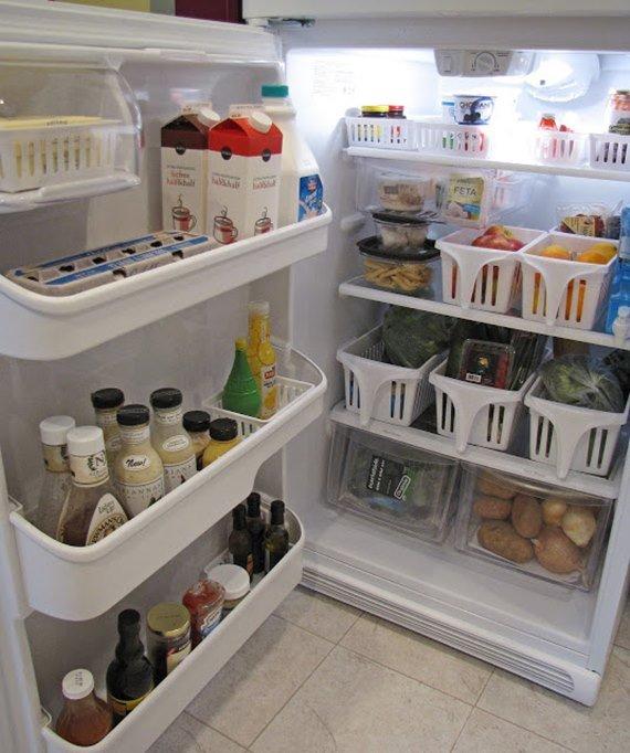 Organize your Refrigerator Instruction - DIY Space Saving Hacks to Organize Your Kitchen