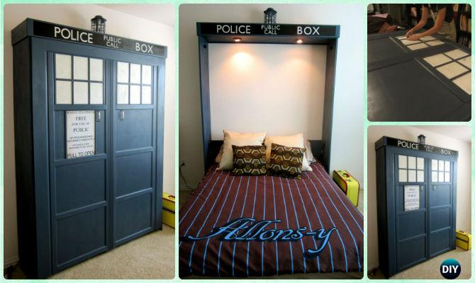 DIY Tardis Murphy Bed Instructions - DIY Space Savvy Bed Frame Design Concepts Instructions