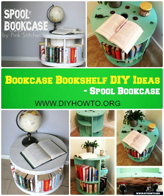DIY Recycled Spool Bookcase Coffeetable Instruction