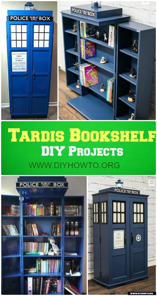 Do It Yourself Home Design: DIY Tardis Bookshelf Projects [Picture Instructions]