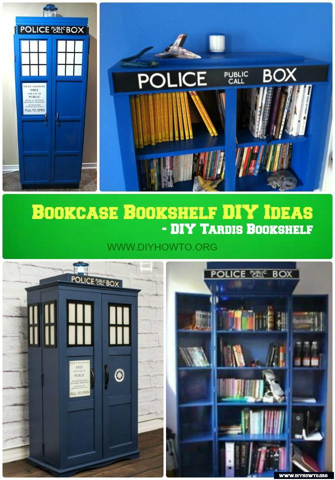DIY Tardis Bookshelf Bookcase Cabinet Instructions Free Plan