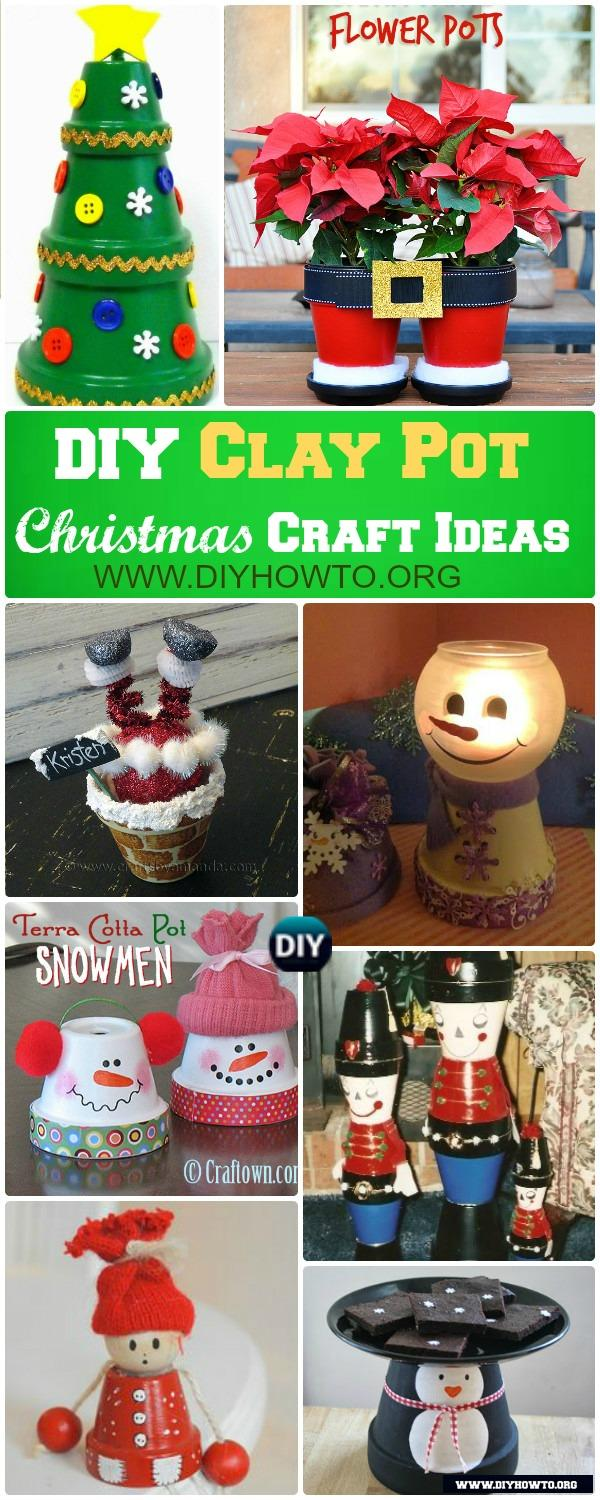 Decorate Your Christmas with these Fun Joyful Flower Clay Pot Christmas Craft Projects