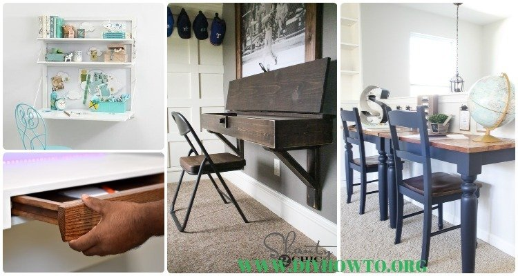 DIY Wall Mounted Desk Free Plans & Instructions