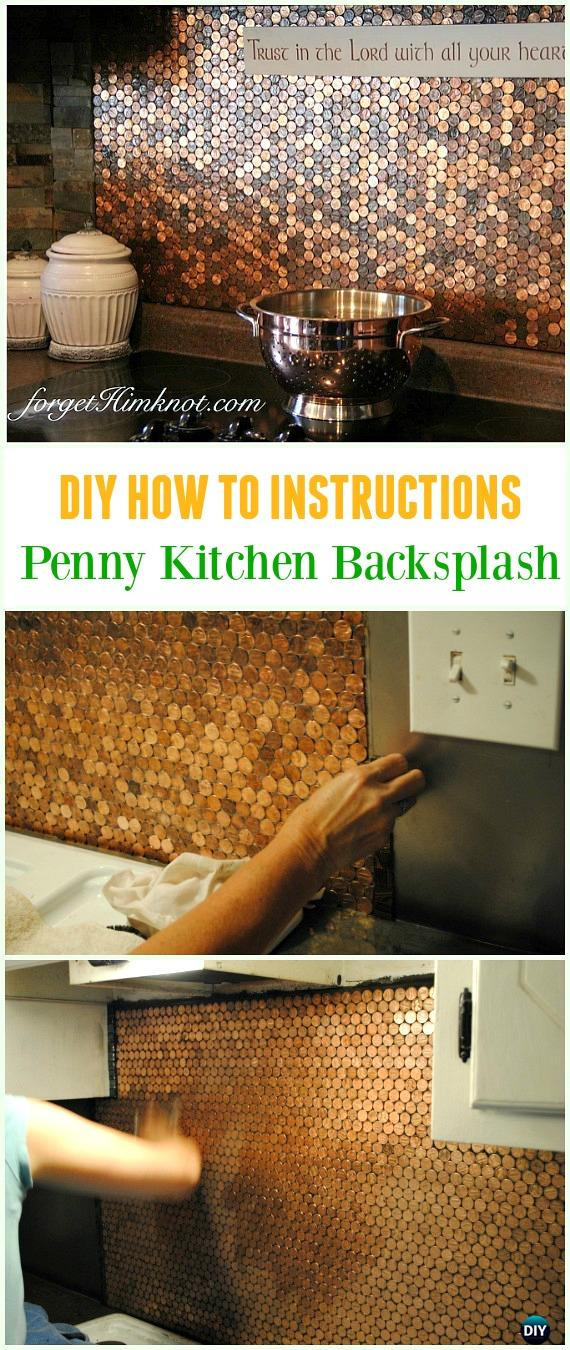 DIY Penny Stove Back Splash Tutorial - Cool DIY Ways to Decorate Home & Garden with Pennies #Recycle; #Penny; #HomeDecor