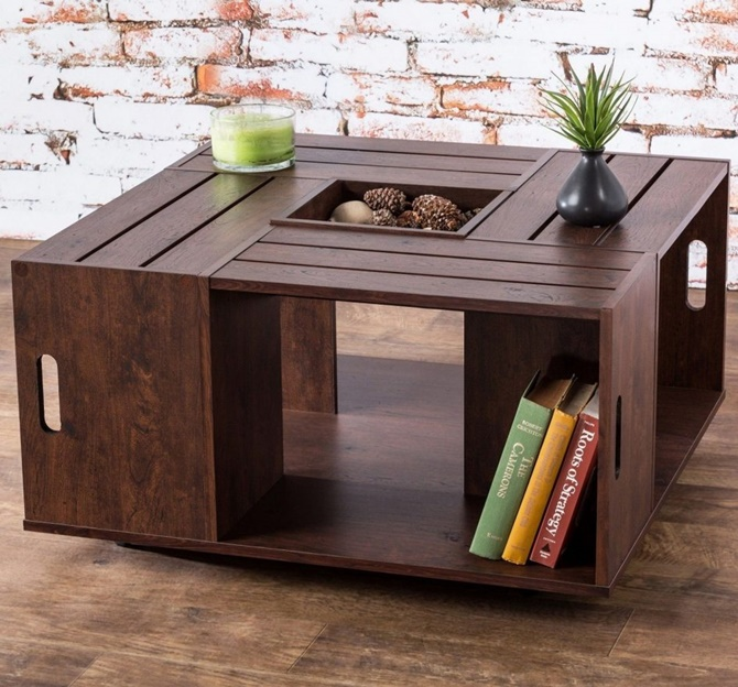 Diy Wood Crate Coffee Table Free Plans Picture Instructions