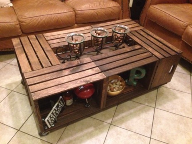 Diy Wine Fruit Wood Crate Coffee Table Free Plan 6