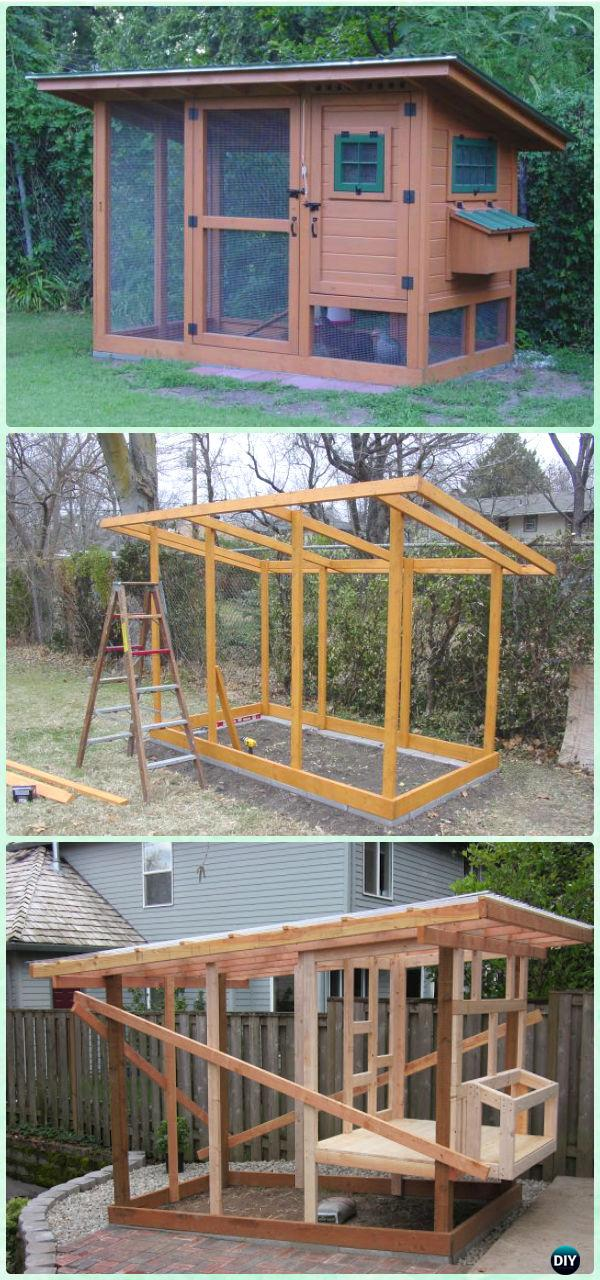 DIY Wichita Cabin Coop Free Plan & Instructions - DIY Wood Chicken Coop Free Plans