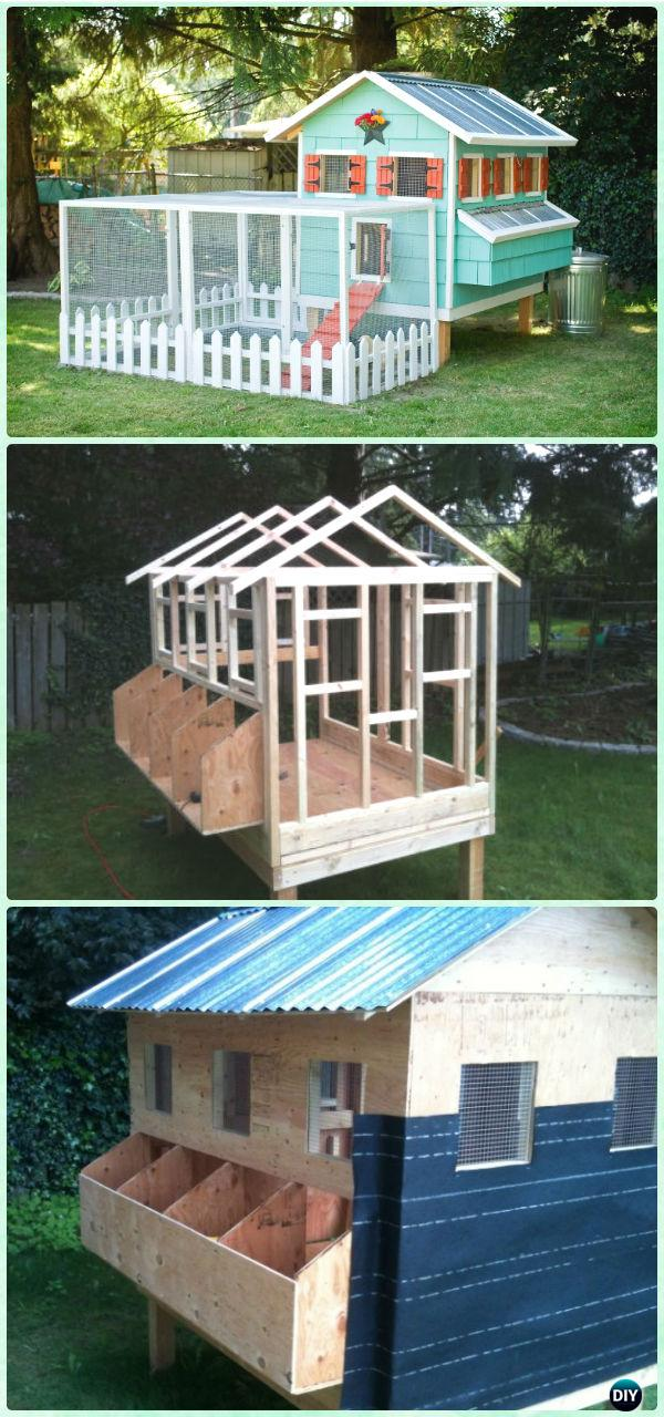 DIY Condo Chicken Coop Free Plan & Instructions - DIY Wood Chicken Coop Free Plans