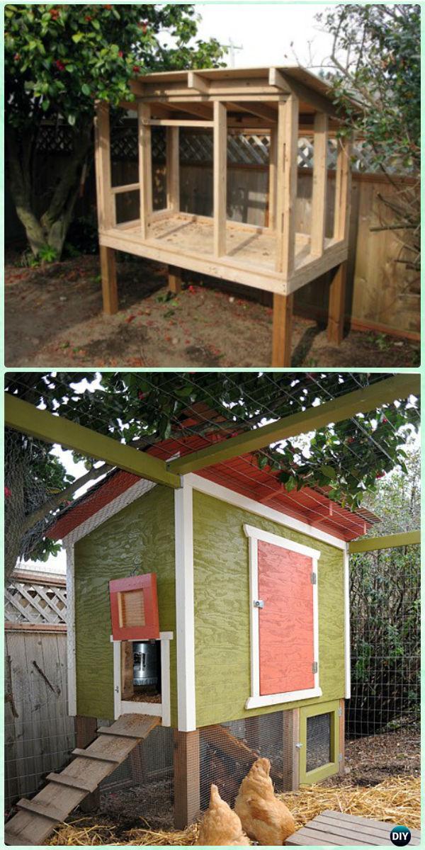 DIY Urban Chicken Coop Free Plan & Instructions - DIY Wood Chicken Coop Free Plans
