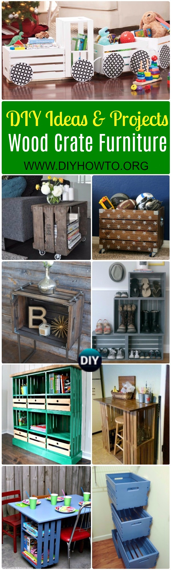 wood crate furniture diy. A Collection Of DIY Wood Crate Furniture Ideas\u0026Projects: Wall Storage, Tractor Toy Storage Diy