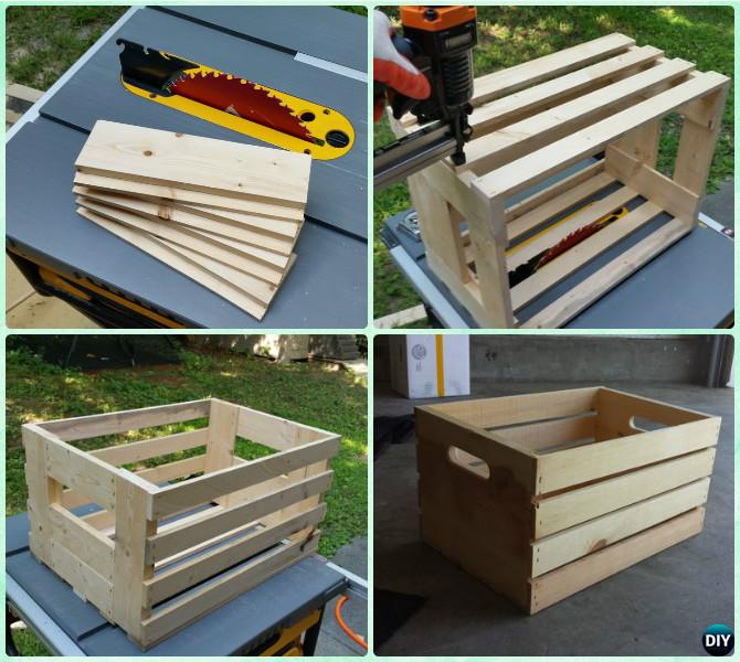 Diy Wood Crate Coffee Table Free Plans [picture Instructions]