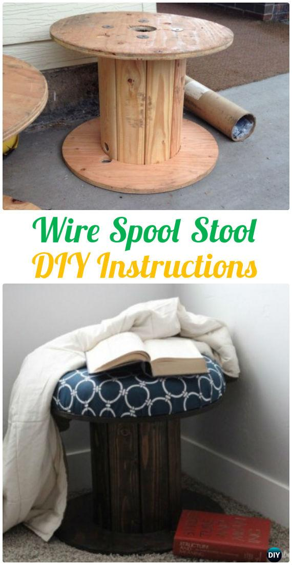 DIY Wire Spool Stool Instruction - Wood Wire Spool Recycle Ideas ...