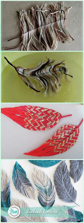 DIY Yarn Feather Instruction - Yarn Crafts No Crochet