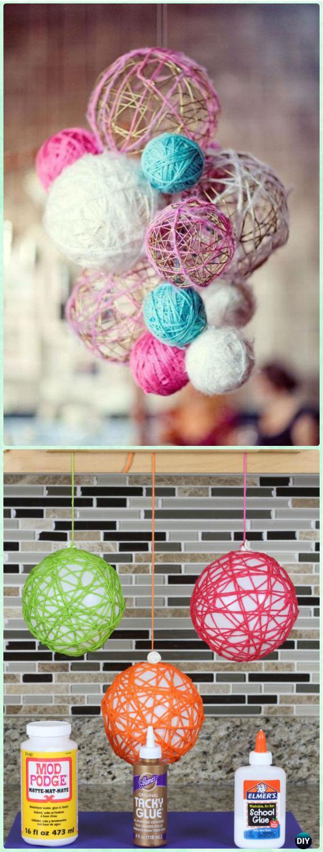 DIY Yarn Balls Instruction 4 Ways - Yarn Crafts No Crochet