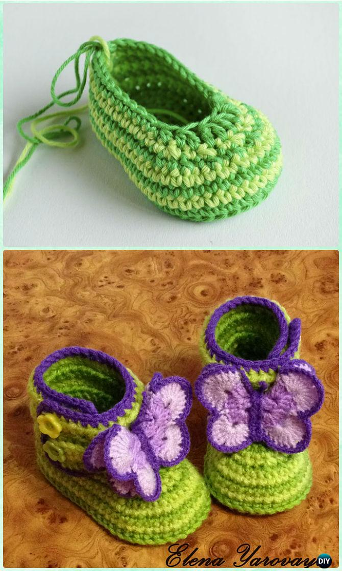 Crochet Ankle High Baby Booties Free Patterns Tutorials