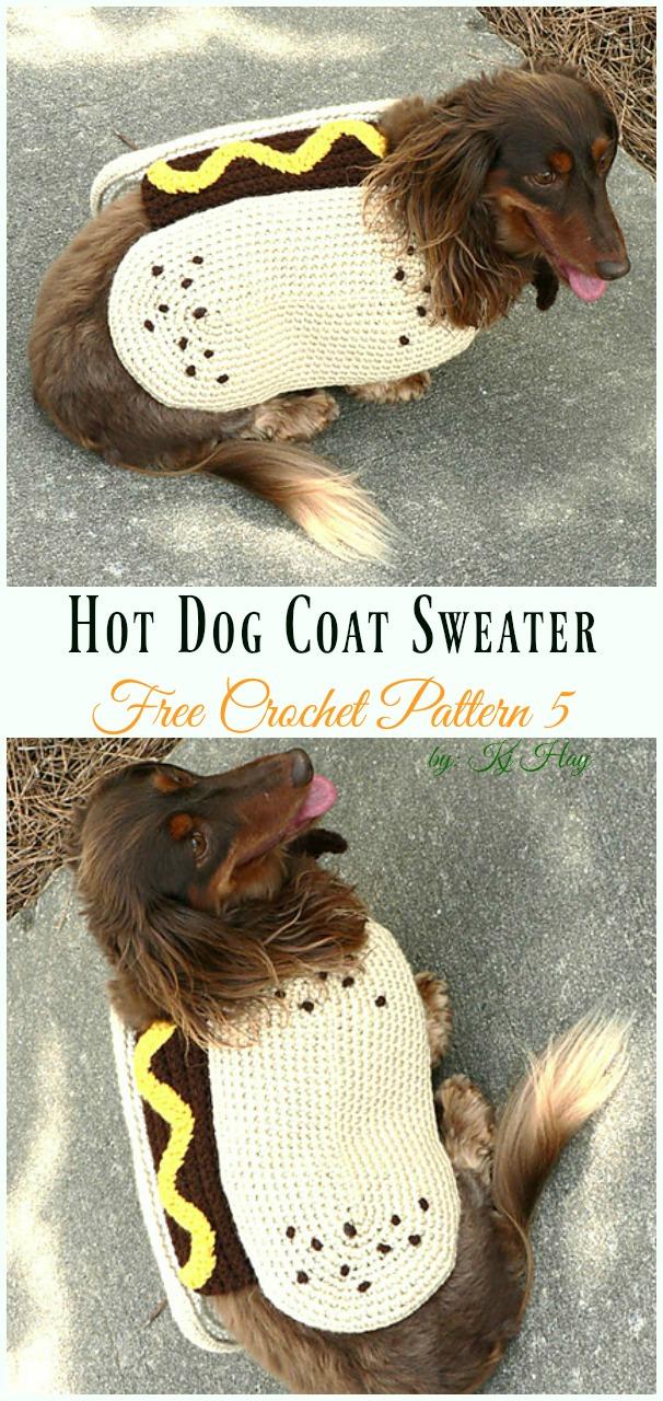 Hot Dog CoatCrochet Free Pattern - #Dog; #Sweater; #Crochet; Free Patterns