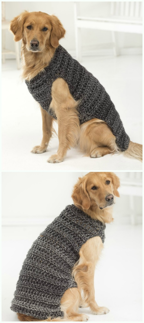 Marley Dog Sweater Crochet Free Pattern - #Dog; #Sweater; #Crochet; Free Patterns