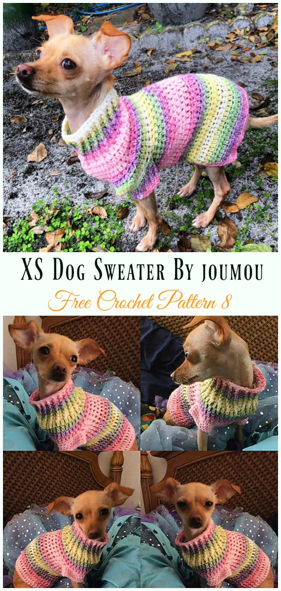 XS Dog Sweater Crochet Free Pattern - #Dog; #Sweater; #Crochet; Free Patterns