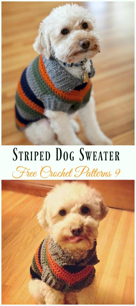 Striped Dog SweaterCrochet Free Pattern - #Dog; #Sweater; #Crochet; Free Patterns
