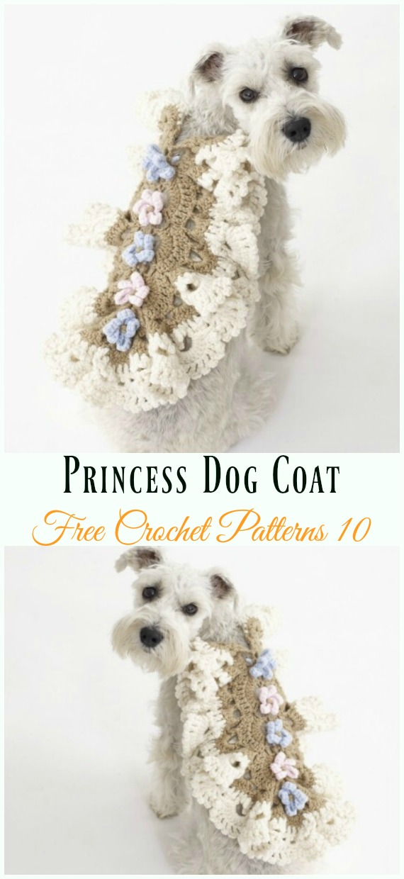 Princess Dog Coat Crochet Free Pattern - #Dog; #Sweater; #Crochet; Free Patterns