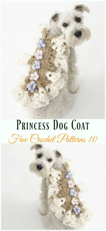 Princess Dog CoatCrochet Free Pattern - #Dog; #Sweater; #Crochet; Free Patterns
