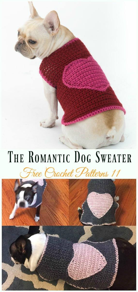 The Romantic Dog SweaterCrochet Free Pattern - #Dog; #Sweater; #Crochet; Free Patterns
