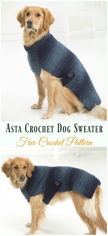 Asta Crochet Dog Sweater Crochet Free Pattern Dog Sweater