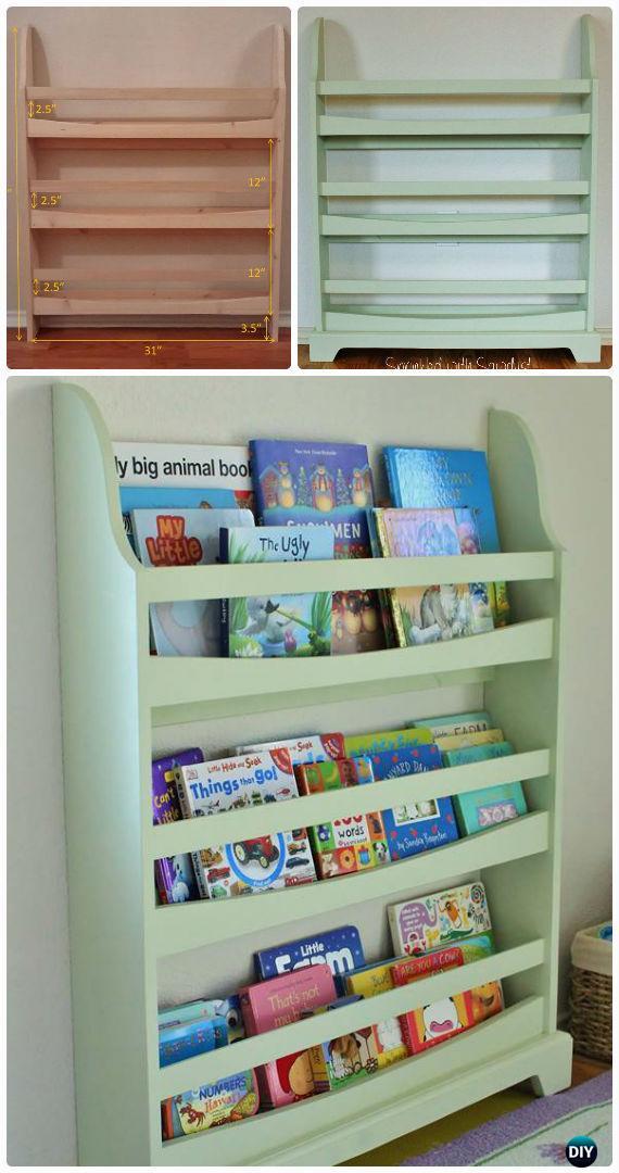 DIY Pottery Barn Kids Madison Bookrack Free Plan Instructions - Back-To-School Kids Furniture DIY Ideas Projects