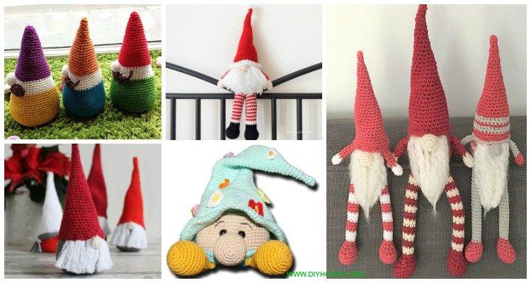 Christmas Gnomes Pattern.Free Amigurumi Gnome Toy Softies Crochet Patterns