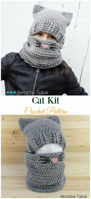 Blue Star Cat Hat with Cute FlowerCrochet Pattern -Fun Kids #Cat; #Hat; #Crochet; Patterns
