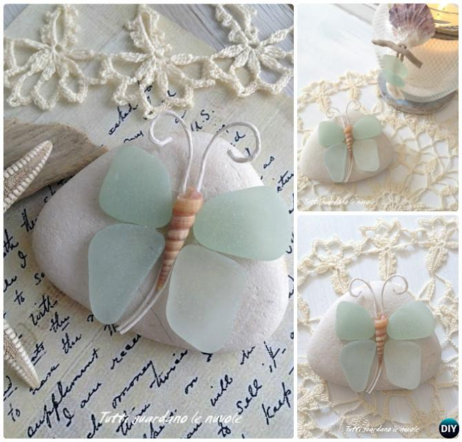 DIY Sea Glass Rock Butterfly Kid Friendly Crafts Ideas