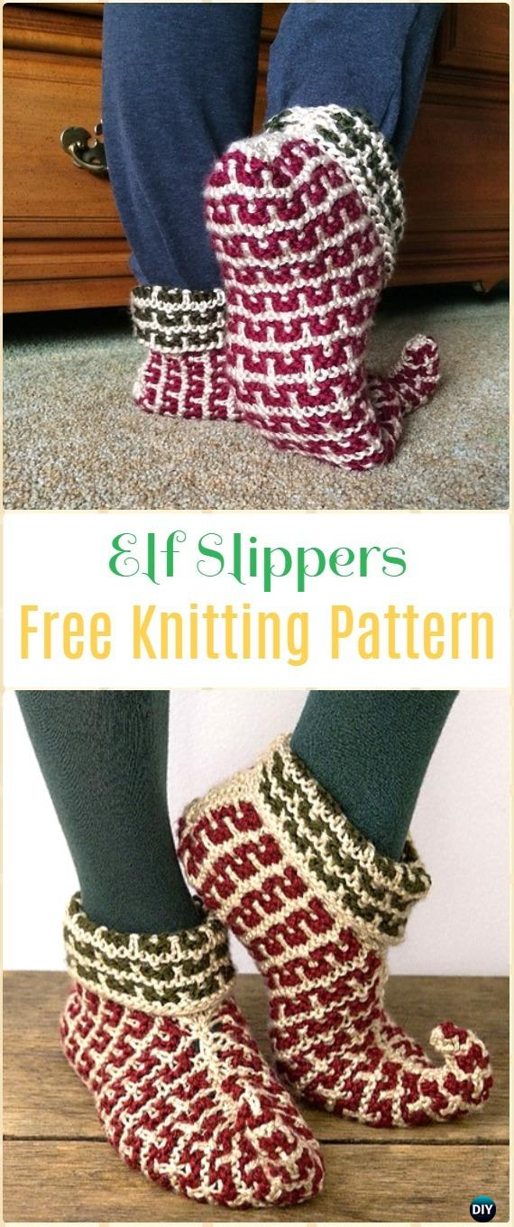 Knit Adult Slippers Boots Free Patterns Written Tutorials